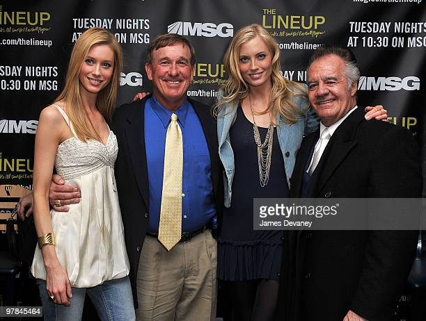 """Camilla Thorsson, Gary Carter, Jennifer Ohlsson and Tony Sirico attend launch party for the MSG Network premiere of """"The Lineup: New York�s All-Time..."""