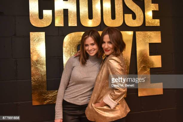 Camilla Thurlow and Caroline Flack attend the launch of the Help Refugees 'Choose Love' popup shop on November 23 2017 in London England