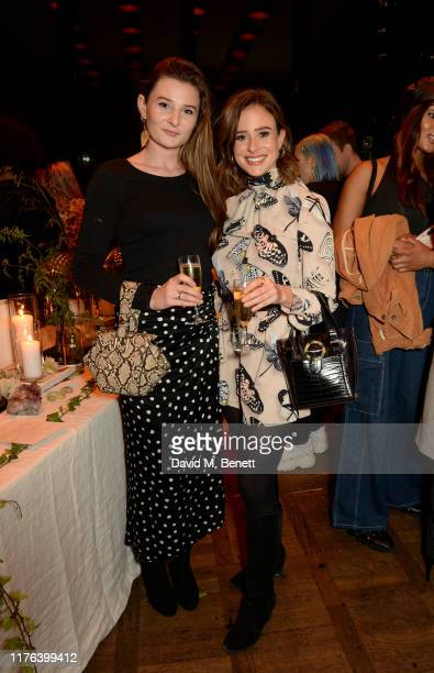 Camilla Thurlow and friend attend iconic British fragrance brand Ghost Fragrances home launch at The Ace Hotel on October 17 2019 in London England
