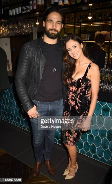 Camilla Thurlow and Jamie Jewitt attend the Into Film Award 2019 at Odeon Luxe Leicester Square on March 04 2019 in London England