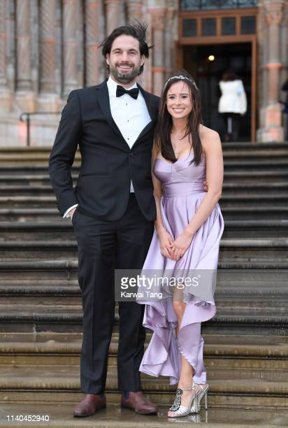 Camilla Thurlow and Jamie Jewitt attend the Our Planet global premiere at Natural History Museum on April 04 2019 in London England