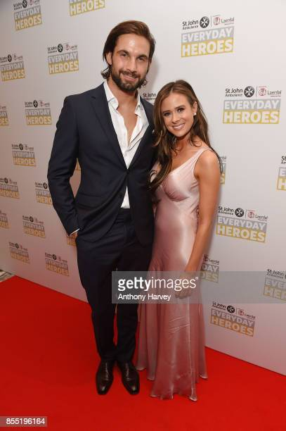 Camilla Thurlow and Jamie Jewitt attendthe St John Ambulance's Everyday Heroes Awards a star studded celebration of the nation's life savers at...
