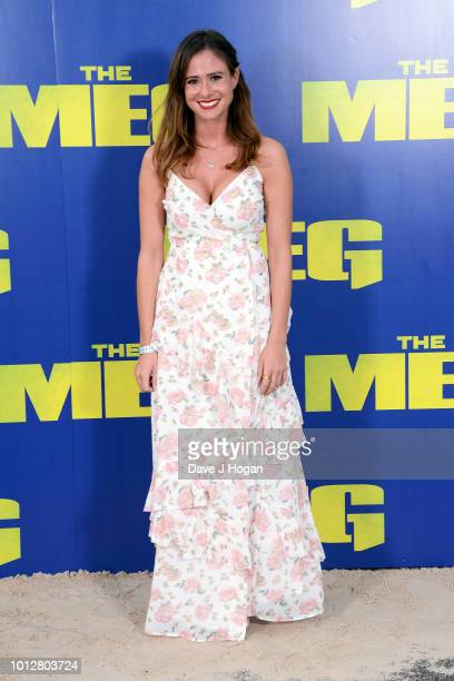 Camilla Thurlow attends a special screening of 'The Meg' at Brockwell Lido on August 7 2018 in London England