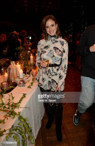 Camilla Thurlow attends iconic British fragrance brand Ghost Fragrances home launch at The Ace Hotel on October 17 2019 in London England