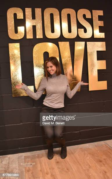 Camilla Thurlow attends the launch of the Help Refugees 'Choose Love' popup shop on November 23 2017 in London England
