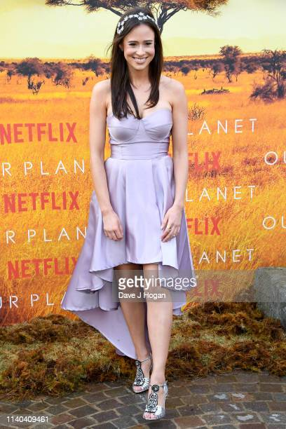 Camilla Thurlow attends the Our Planet global premiere at Natural History Museum on April 04 2019 in London England