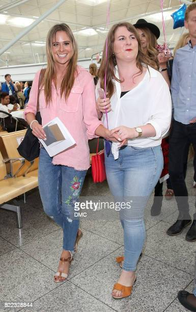 Camilla Thurlow from Love Island arrive at Stanstead airport on July 25 2017 in London England