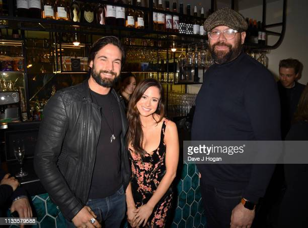 Camilla Thurlow Jamie Jewitt and Tom Davies attend the Into Film Award 2019 at Odeon Luxe Leicester Square on March 04 2019 in London England