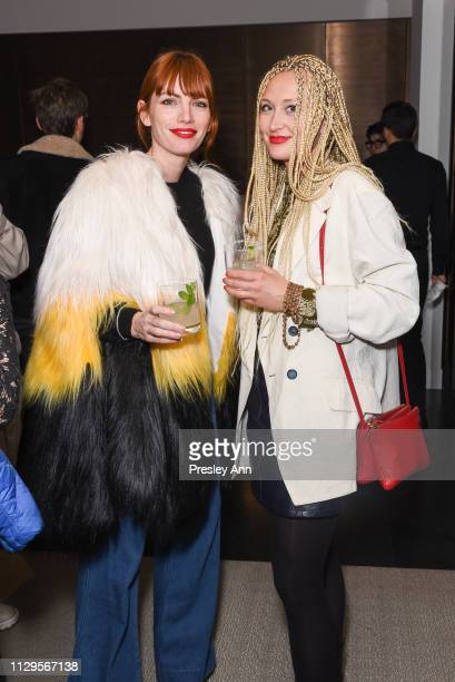 Camilla Tisi and guest attend Oliver Peoples x Tasya van Ree Celebrates Who is Oliver Exhibition at LECLAIREUR on February 13 2019 in Los Angeles...