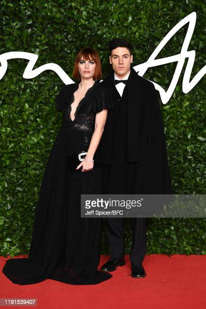 Camilla Tisi and Nicco Torrelli arrive at The Fashion Awards 2019 held at Royal Albert Hall on December 02 2019 in London England