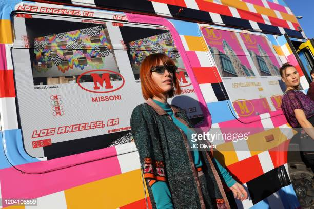 Camilla Tisi attends M Missoni F/W20 presentation at Pink's Hot Dogs on February 04 2020 in Los Angeles California