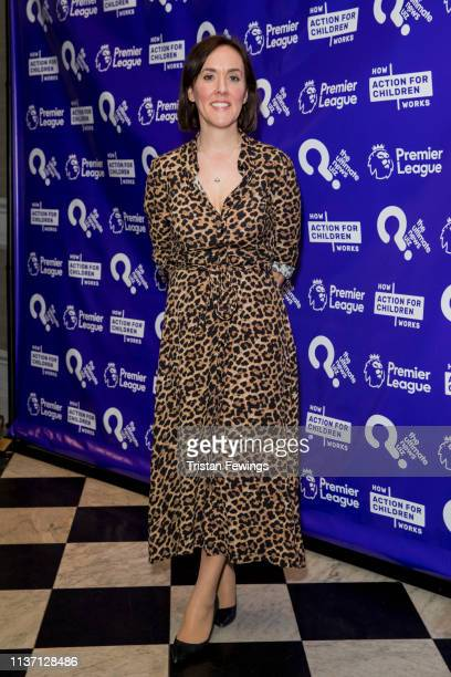 Camilla Tominey attends the Ultimate News Quiz drinks reception at Grand Connaught Rooms on March 20 2019 in London England This annual charity quiz...