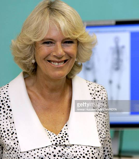CamillaDuchess of Cornwall President of the National Osteoporosis Society smiles during a visit to Guy's Hospital on July 12 2006 The Duchess of...