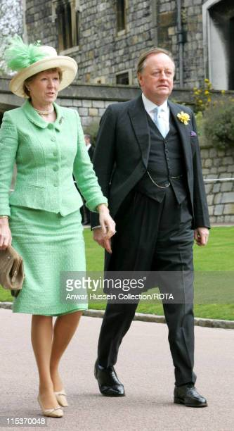Camilla's ex husband Andrew Parker Bowles and wife