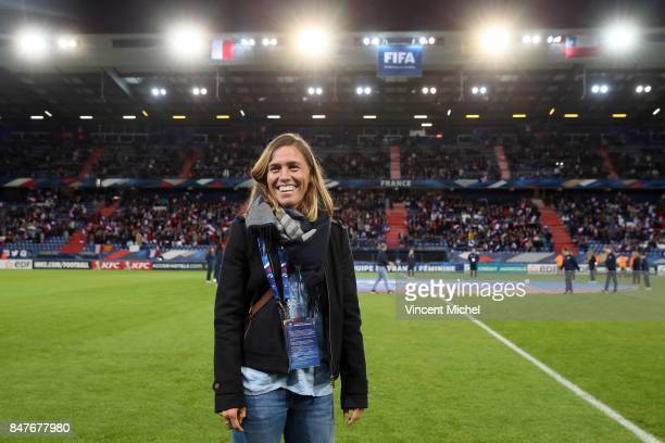 Camille Abily during the women's international friendly match between France and Colombia at Stade Michel D'Ornano on September 15 2017 in Caen France
