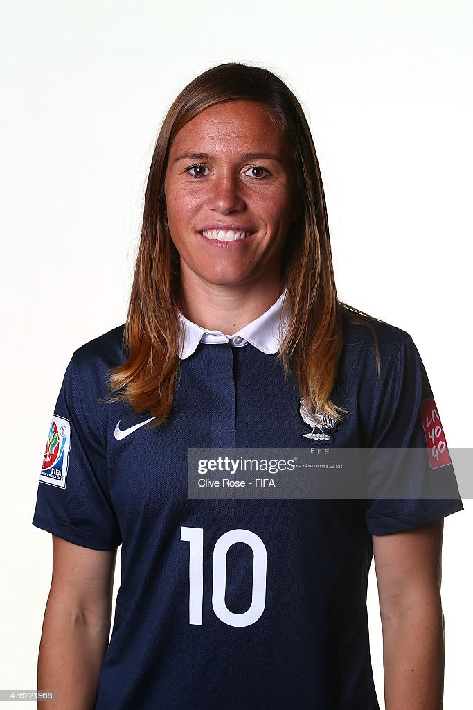 Camille Abily of France poses during a FIFA Women's World Cup portrait session on June 6, 2015 in Moncton, Canada.