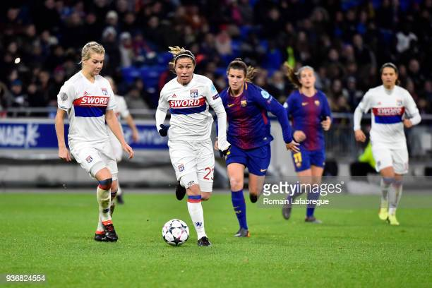 Camille Abily of Lyon during the women's Champions League match round of 8 between Lyon and Barcelona on March 22 2018 in Lyon France