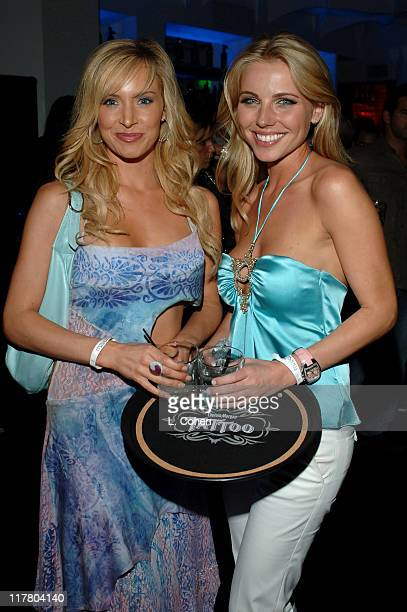 Camille Anderson and Ivana Bozilovic during Maxim Magazine's Hot 100 Inside at The Day After in Hollywood California United States