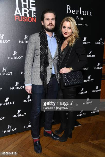 Camille Benaroch and guest attend the Hublot and Berluti unveil of two new watches at Hotel D'Evreux on December 4 2017 in Paris France