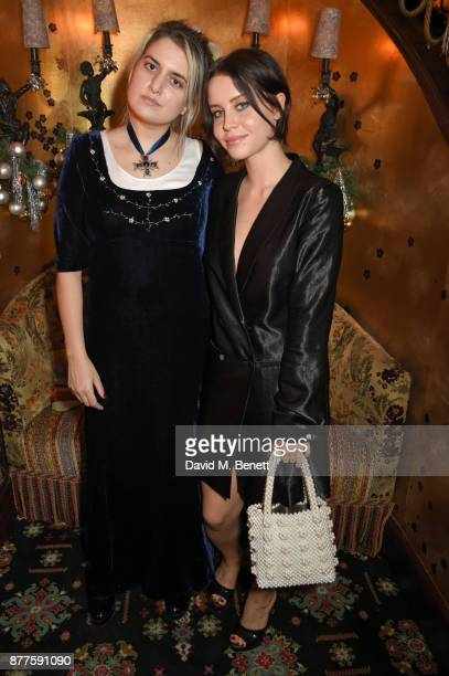 Camille Benett and Billie JD Porter attend the Nick Cave The Bad Seeds x The Vampires Wife x Matchesfashioncom party at Loulou's on November 22 2017...