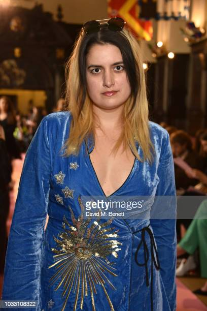 Camille Benett attends the Ryan LO front row during London Fashion Week September 2018 at Stationers' Hall on September 14 2018 in London England