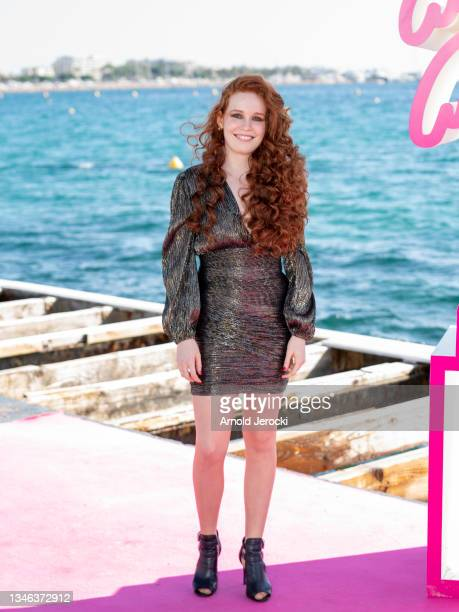 Camille Berthollet attends the 4th Canneseries Festival - Day Six on October 13, 2021 in Cannes, France.