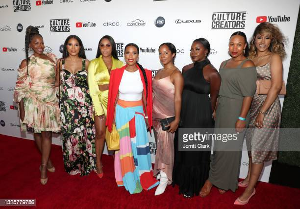 Camille Binder, Alaina Smith, Miss Diddy, Ingrid Best, Anna Mia, Chloe Moyo, Brittany Dunn and Rachel Cook attend the Culture Creators Innovators &...