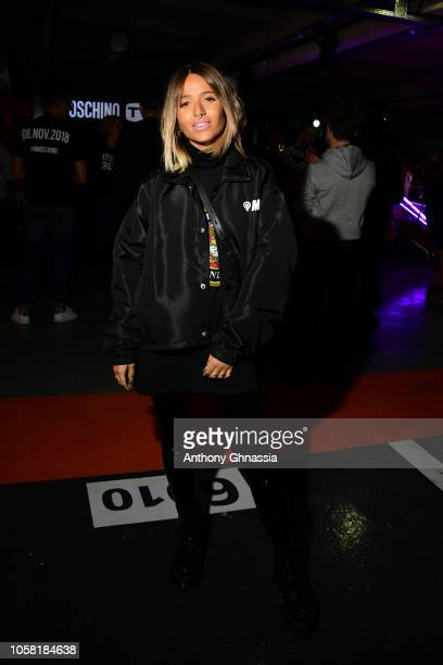 Camille Callen attends MOSCHINO [tv] HM Launch Party at Le Dernier Etage on November 6 2018 in Paris France