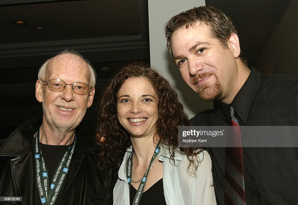 Camille Cellucci (C) and director David Baxter (R) at the Unraveling The Code: Rosalind Franklin and DNA panel during the 2004 Tribeca Film Festival May 8, 2004 in New York City.