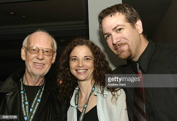 Camille Cellucci and director David Baxter at the Unraveling The Code Rosalind Franklin and DNA panel during the 2004 Tribeca Film Festival May 8...
