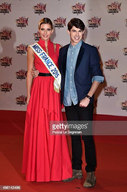 Camille Cerf and Lilian Renaud attend the 17th NRJ Music Awards at Palais des Festivals on November 7 2015 in Cannes France