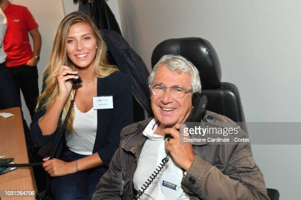 Camille Cerf and Michel Boujenah attend the Aurel BGC Charity Benefit Day 2018 on September 11, 2018 in Paris, France.