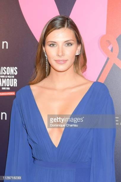 """Camille Cerf attends """"Par Amour"""" Charity Gala at Mairie de Paris on February 14, 2019 in Paris, France."""
