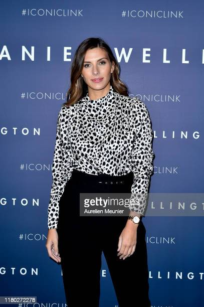 Camille Cerf attends the launch of the Daniel Wellington new Iconic Link Watch Collection at L'imprimerie on October 10, 2019 in Paris, France.