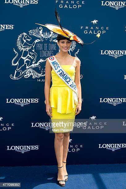 Camille Cerf attends the 'Prix de Diane Longines 2015' at Hippodrome de Chantilly on June 14 2015 in Chantilly France