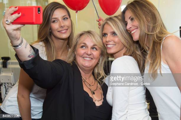 Camille Cerf , Valerie Damidot, Sylvie Tellier and Sophie Thalmann attend the Aurel BGC Charity Benefit Day 2017 on September 11, 2017 in Paris,...