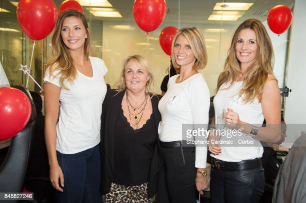 Camille Cerf Valerie Damidot Sylvie Tellier and Sophie Thalmann attend the Aurel BGC Charity Benefit Day 2017 on September 11 2017 in Paris France