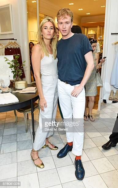 Camille Charriere and Fletcher Cowan attend the Club Monaco Summer Cocktail Party on July 20 2016 in London England