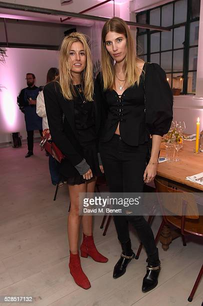 Camille Charriere and Veronika Heilbrunner attend a private dinner hosted by Mih Jeans to celebrate their 10th anniversary at Brewer Street Car Park...
