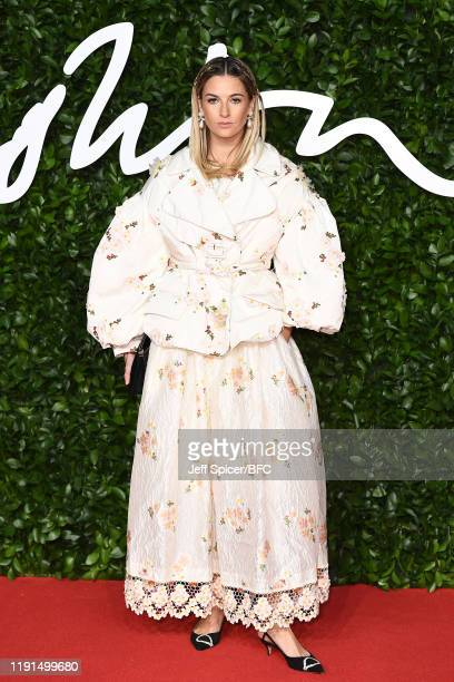 Camille Charriere arrives at The Fashion Awards 2019 held at Royal Albert Hall on December 02 2019 in London England