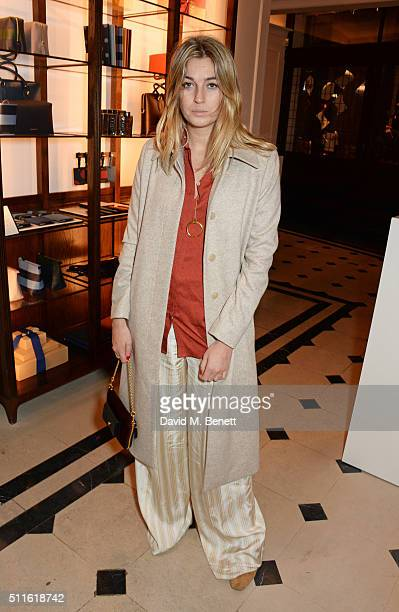 Camille Charriere attend as mytheresacom and Burberry celebrate the new MYT Woman at Thomas's on February 21 2016 in London England