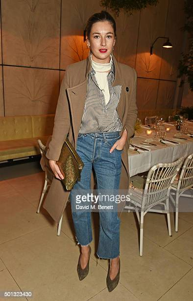 Camille Charriere attends a private VIP dinner hosted by Club Monaco and Garance Dore in celebration of the 'Love Style Life' book tour at Spring at...