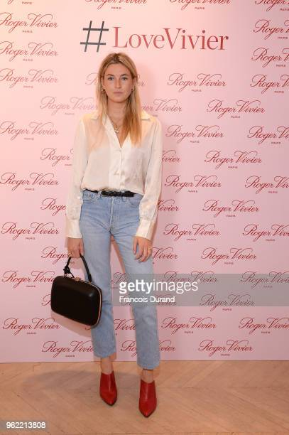 Camille Charriere attends Roger Vivier '#LoveVivier' Book Launch Cocktail on May 24 2018 in Paris France