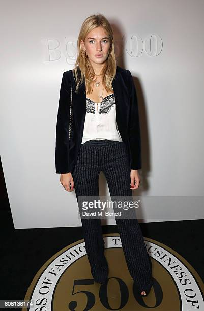 Camille Charriere attends the Business of Fashion #BoF500 Gala Dinner at The London EDITION on September 19 2016 in London England