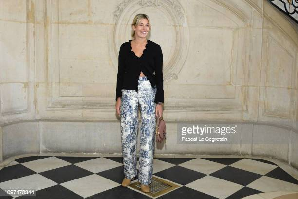 Camille Charriere attends the Christian Dior Haute Couture Spring Summer 2019 show as part of Paris Fashion Week on January 21 2019 in Paris France