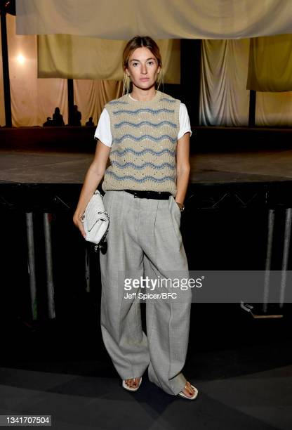 Camille Charriere attends the COS show at The Roundhouse during London Fashion Week September 2021 on September 21, 2021 in London, England.