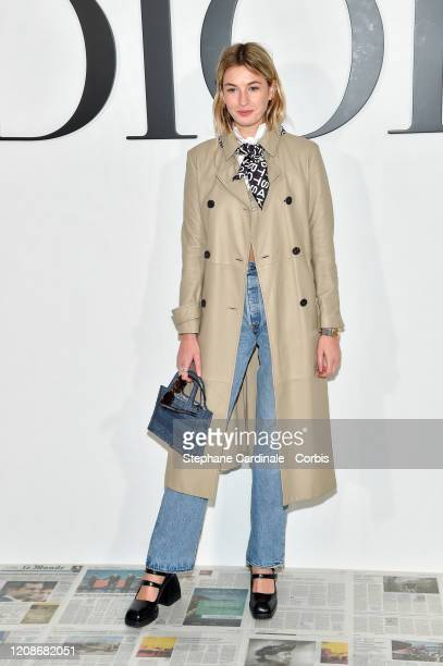 Camille Charriere attends the Dior show as part of the Paris Fashion Week Womenswear Fall/Winter 2020/2021 on February 25, 2020 in Paris, France.