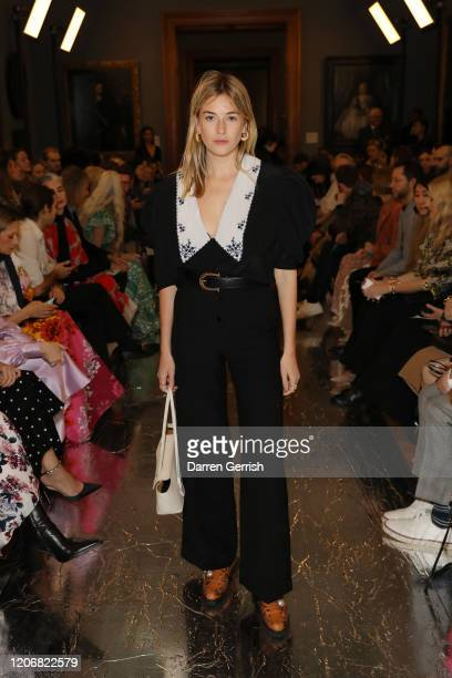 Camille Charriere attends the Erdem show during London Fashion Week February 2020 on February 17 2020 in London England