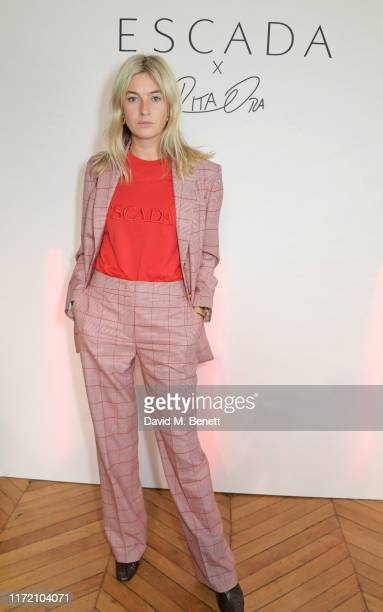 Camille Charriere attends the ESCADA x RITA ORA capsule launch event during Paris Fashion Week on September 29, 2019 in Paris, France.