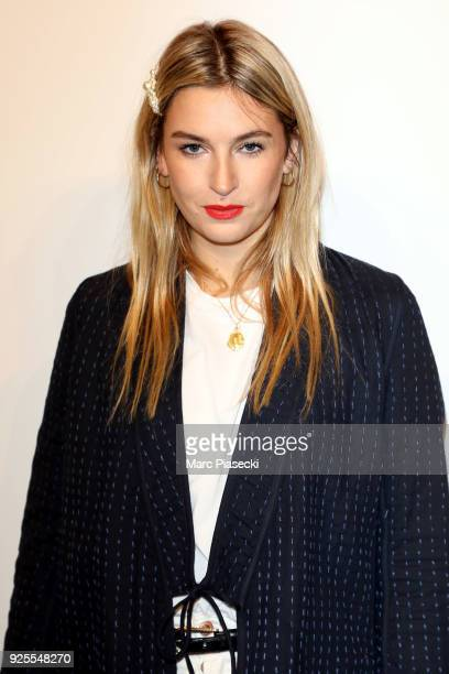 Camille Charriere attends the HM show as part of the Paris Fashion Week Womenswear Fall/Winter 2018/2019 on February 28 2018 in Paris France